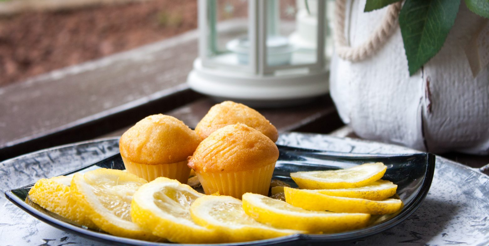 muffins with lemon zest and ginger