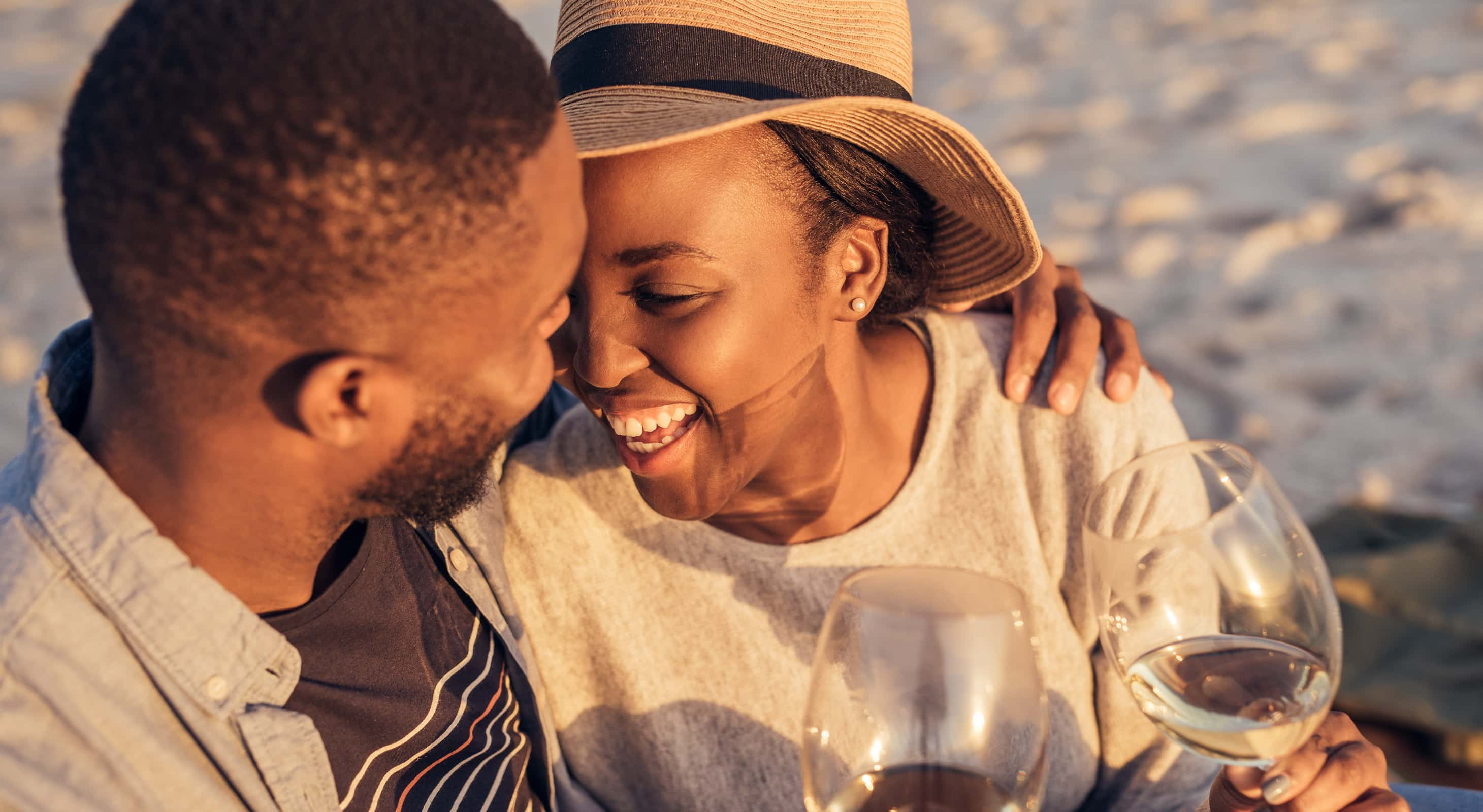 Couple on a romantic eastern shore getaway