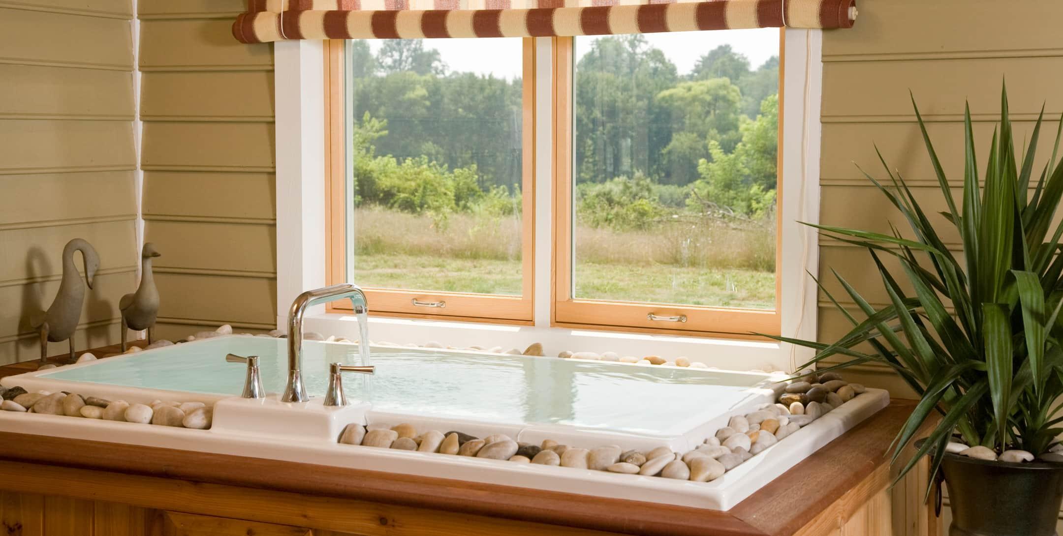 Japanese soaking tub in the Marley's Cottage at Brampton Inn