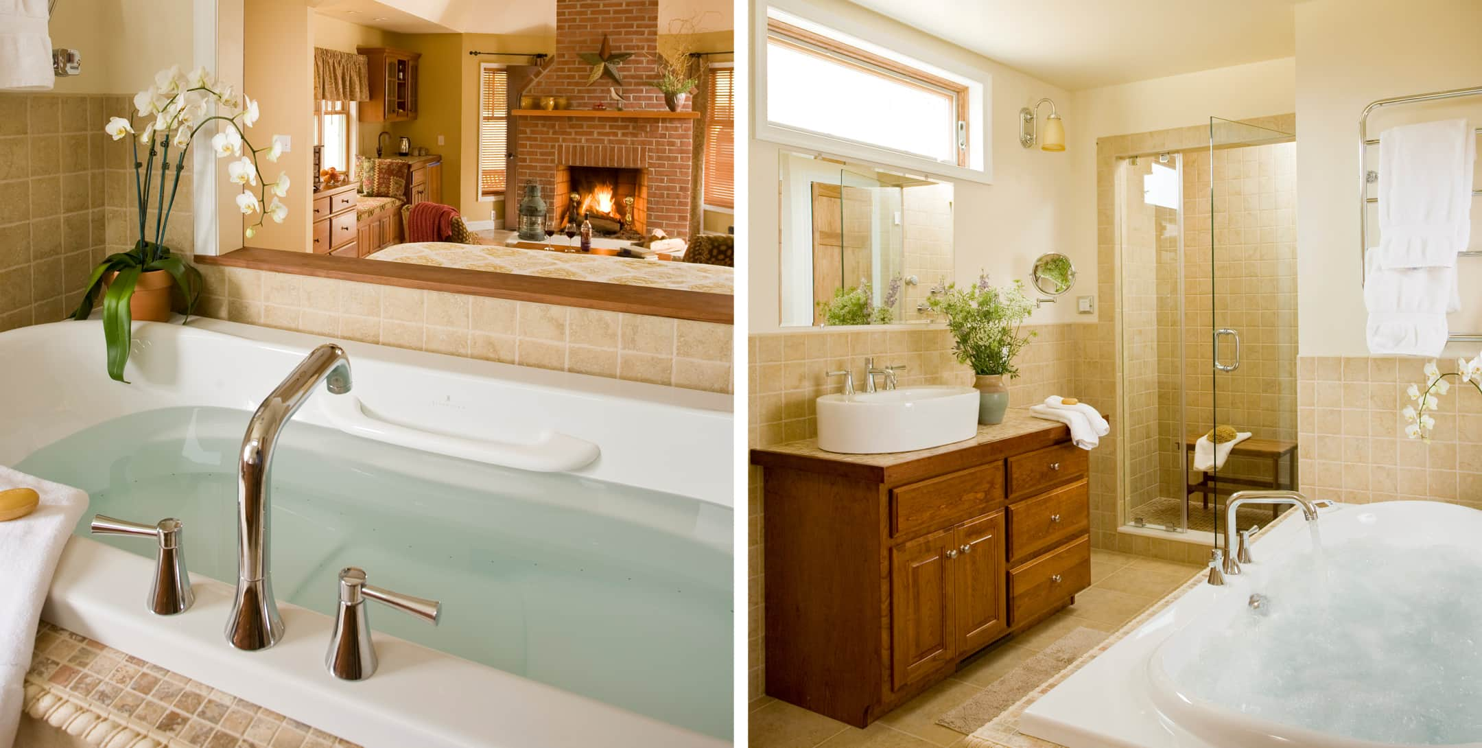Large jetted tub in the Mulberry Cottage at Brampton Inn