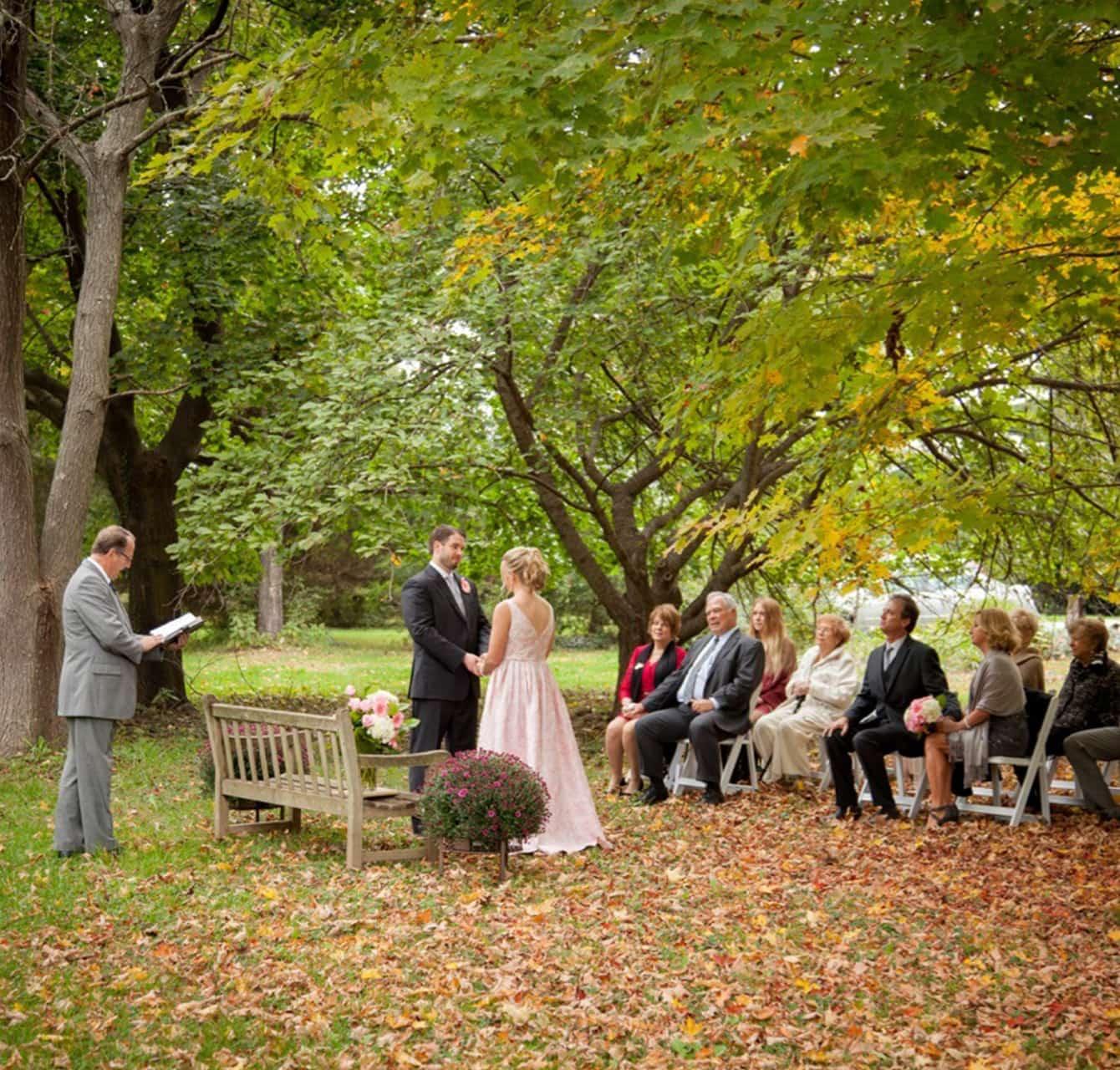 Wedding ceremony at Brampton Bed & Breakfast Inn