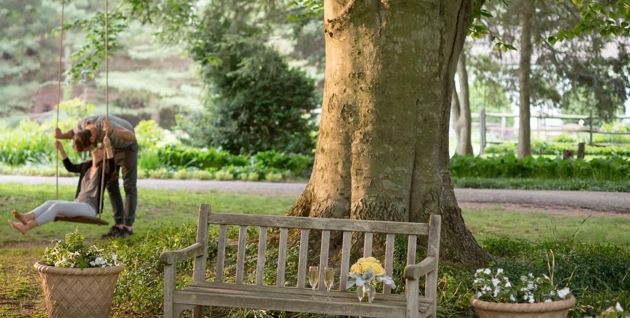 romantic swing at Brampton Inn