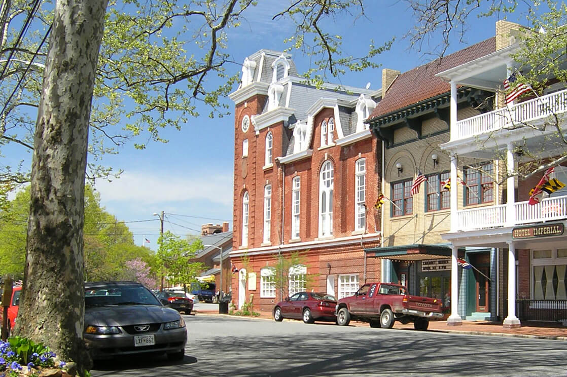 charming downtown Chestertown, MD