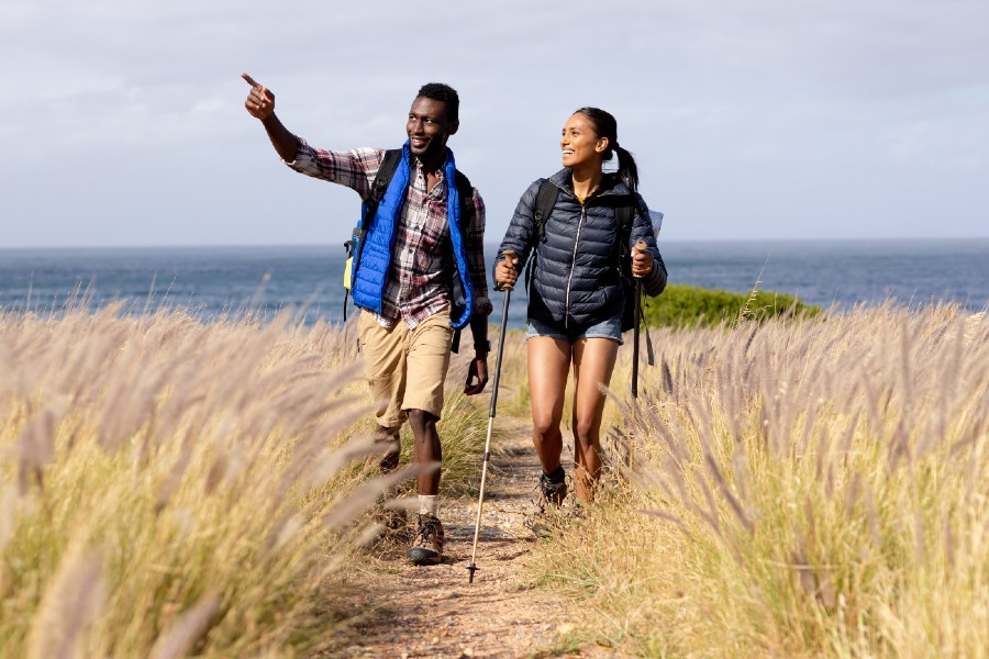 Couple Hiking on the Eastern Shore