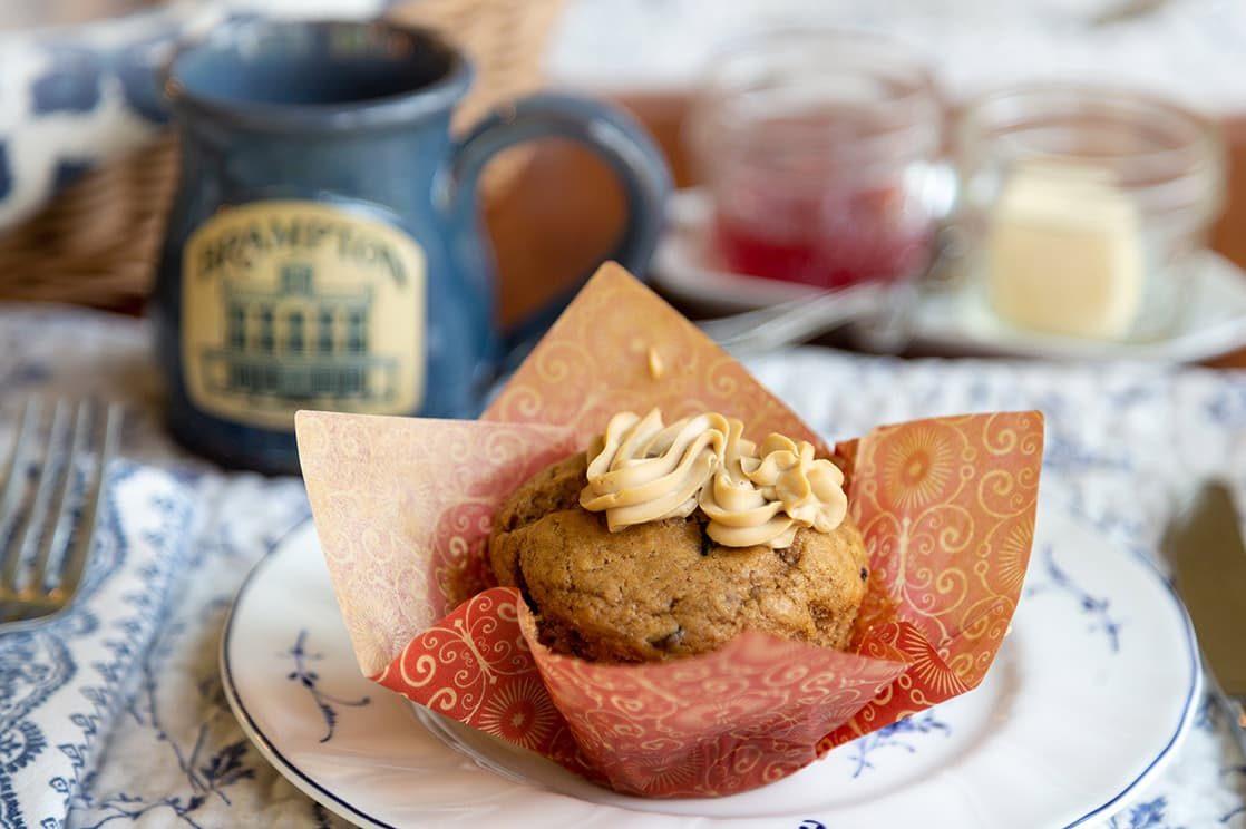 homemade muffin from Brampton Inn