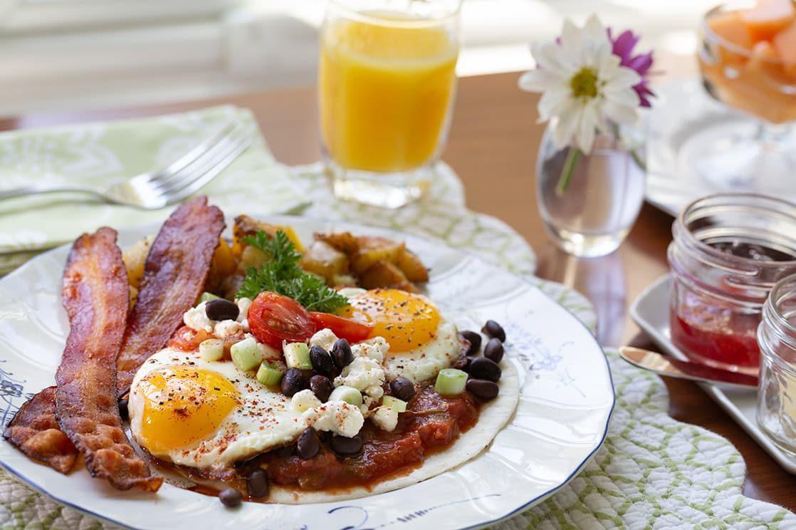 Huevos Rancheros breakfast plate