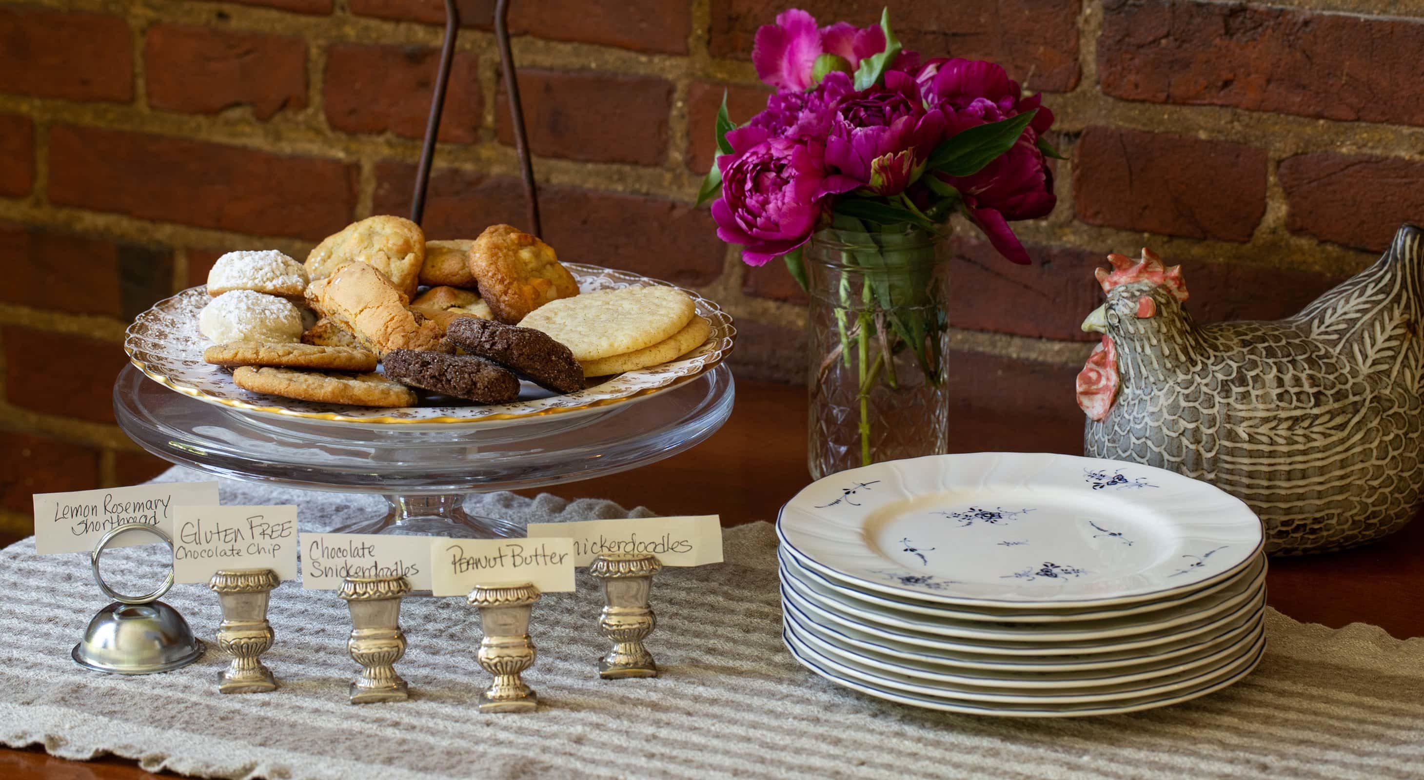homemade cookies at Tea Time