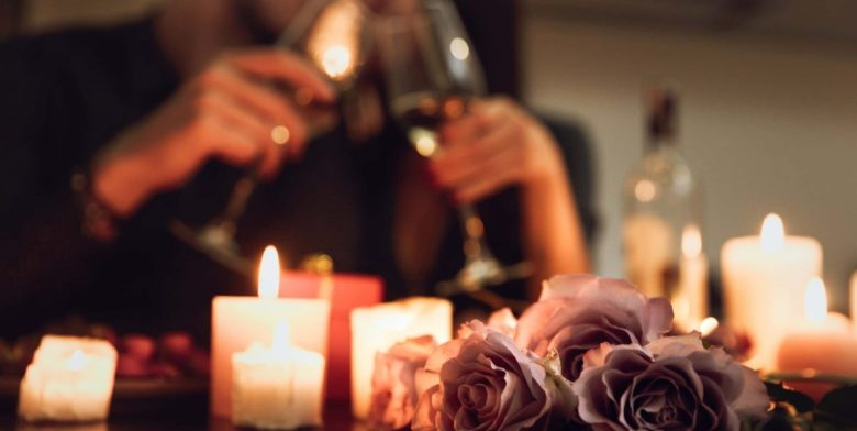 Romantic candlelit evening