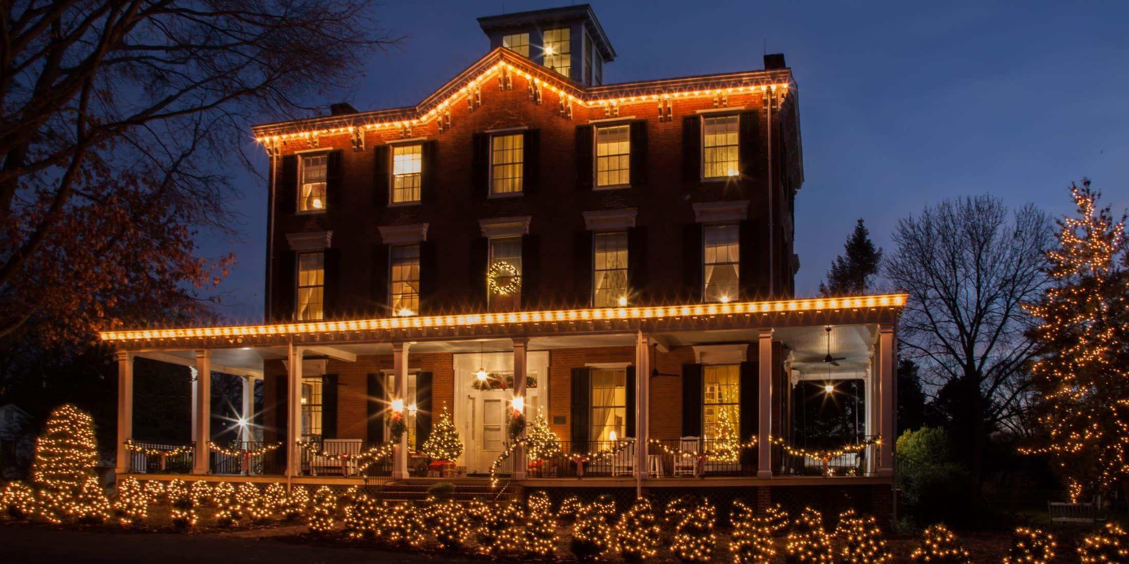 festive exterior of Brampton Inn